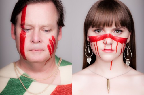 roxyharmon:  War Paint. Joel Murray and Tara Lynne Barr for Leveled Magazine. @taralynnebarr @leveledmag  My celebrity  crushes!! :')  I Hope God Bless America Finally makes all those jerks realize how they are pissing people off, they are probably not gonna watch it though