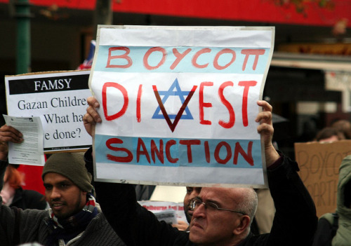 "thepeoplesrecord:  New California legislation targets BDS movement as ""anti-Semitic""September 26, 2012 The California State Assembly has passed a resolution declaring criticism of Israel to be anti-Semitic—in a clear attack on the boycott, divestment and sanction (BDS) movement. Passed by a bipartisan majority of Democrats and Republicans, the resolution—known as HR 35—specifically defines as anti-Semitic any speaker, film and event that describes Israel as ""guilty of heinous crimes against humanity such as ethnic cleansing and genocide,"" as well as ""student- and faculty-sponsored boycott, divestment, and sanction campaigns against Israel."" HR 35 smears the BDS movement as anti-Semitic by mixing it in among genuinely anti-Semitic phenomena, like campus vandalism involving swastikas—actual hate crimes which have been perpetrated with disturbing frequency in recent years on California campuses. But the reality is that in opposing racist and genocidal policies of the Israeli state, BDS is an anti-racist movement, and it is supported by people of all races and faiths around the world, including many prominent Jewish voices, such as Israeli historian Ilan Pappé,Holocaust survivor Hedy Epstein, South African anti-apartheid fighter Ronnie Kasrils, and the organizations Jewish Voice for Peace and International Jewish Anti-Zionist Network. The California resolution is the latest in a series of attacks on an increasingly effective BDS movement. Last year, members of pro-Israel groups filed lawsuits attempting to force campuses to put a halt to such activism, but were rebuffed when the court dismissed the suit. These attacks come after several years of highly visible and successful actions in support of Palestine on University of California (UC) campuses and throughout the state—such as the protest of Israeli ambassador Michael Oren in 2010 at UC-Irvine and the successful blockade of an Israeli cargo ship in 2008. It is because of these successes that supporters of Israel are employing more aggressive methods of intimidation against activists in an attempt to slow the movement's progress in delegitimizing Israel's colonial project. The intent of HR 35, which is a non-binding resolution, is to intimidate the BDS movement in order to create a political climate on campuses that is more favorable to Zionists and the right wing. Already, UC administrators have reacted with severe repression against students who dare to speak out against Israel's crimes and challenge the UC's complicity with them. For example, UC administrators and the Orange County District Attorney (DA) cracked down on the 11 students who interrupted a speech by Israeli ambassador Michael Orenat UC Irvine in 2010. Oren was speaking in defense of Israel's crimes during Operation Cast Lead, in which 1,417 Palestinians in Gaza were killed, and the Israeli military targeted major components of Gaza's civilian infrastructure, including schools, governmental and administrative offices, and water-treatment and energy facilities. Not only did the DA level criminal charges against the students, but UC administrators violated the students' right to privacy when they voluntarily turned over their personal e-mail accounts to prosecutors, who then published them in an act of brazen public intimidation. The 11 were ultimately convicted of misdemeanor charges and sentenced to community service time as well as academic sanctions at school. The persecution of the Irvine 11 illustrates the close relationship between university administrators and elected officials—and how the two work together to stymie protest and dissent, especially when it comes to solidarity with Palestine. By officially declaring protests like those of the Irvine 11 to be anti-Semitic, California political representatives want to embolden administrators to stifle opposition to Israel's crimes and the UC system's complicity with them. HR 35 will be a handy statement for administrators to reference and employ in order to justify repression of Palestine solidarity activism. Full article This comes out on the day I begin to read Omar Barghouti's ""Boycott, Divestment, Sanctions: The Global Struggle for Palestinian Rights."" A full review will come soon after I finish it.  California is attempting to stifle a human rights movement centered around ending the Israeli apartheid & allowing Palestinians the right to a safe existence, clean resources, education, healthcare, etc. without being terrorized by Zionist soldiers. The BDS movement will not back down. Zionism is racism. Free Palestine."