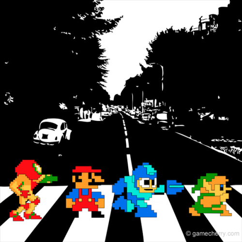 8-bit Abbey Road Created by Matthew Hardy Behance || Tumblr