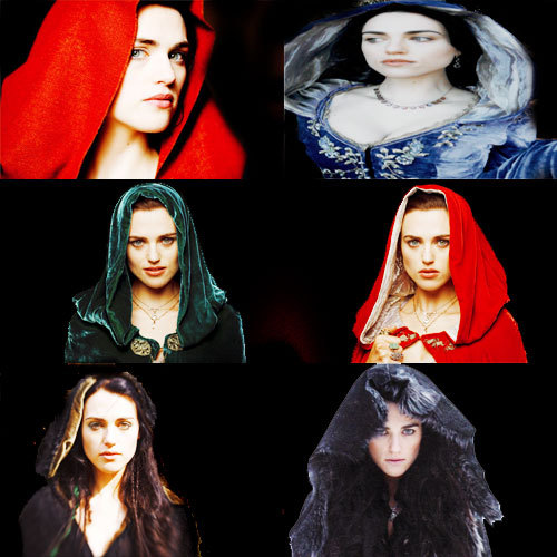 Morgana Pendragon's hood photoset.