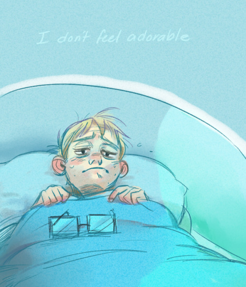 emuisemu asked:  How about an adorakable sick Wheatley? :3