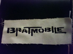 justsmittenkitten:  miguel made me a bratmobile patch c:
