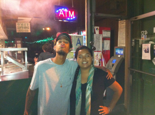 best friend and i  -or so i think   sill happy i was able to meet Hodgy this passed summer  ohh and he was smoking a blunt  it was tight