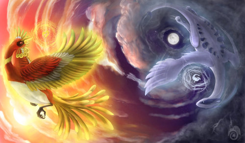 gpoy-pokemon:  HeartGold SoulSilver by MapleDragon