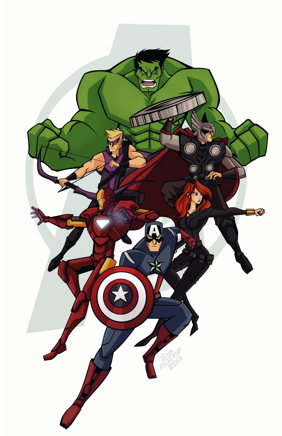 herochan:  The Avengers Created by Sam Filstrup
