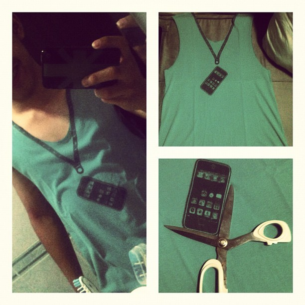 Made a DIY tee to relieve stress! :P i loved it!! #firsttime (Taken with Instagram)