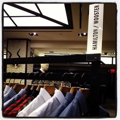 nickelsonwooster:  @hamiltonshirts @bergdorfs 3rd floor men's store.  (Taken with Instagram)