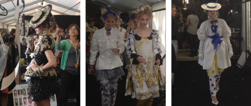 Backstage at Meadham Kirchhoff SS13!