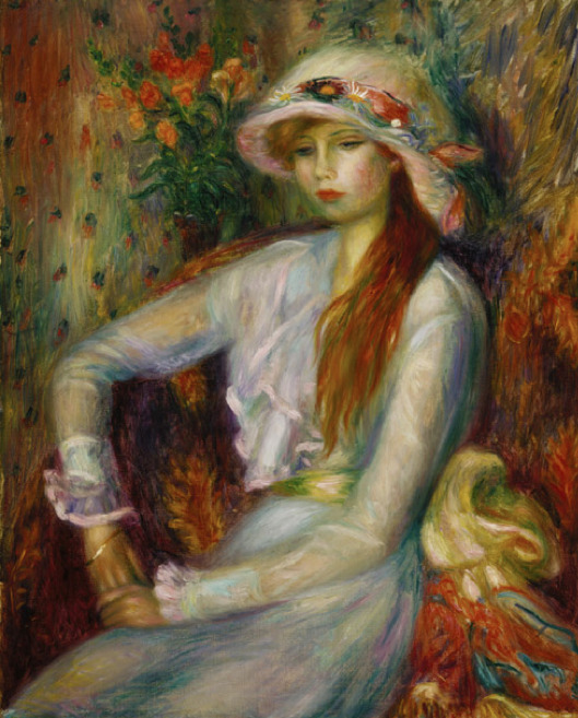 William Glackens (1870-1938) - Julia's Sister, c. 1915.  Oil on canvas. 32 1/8 x 26 1/8 in.  Terra Foundation for American Art