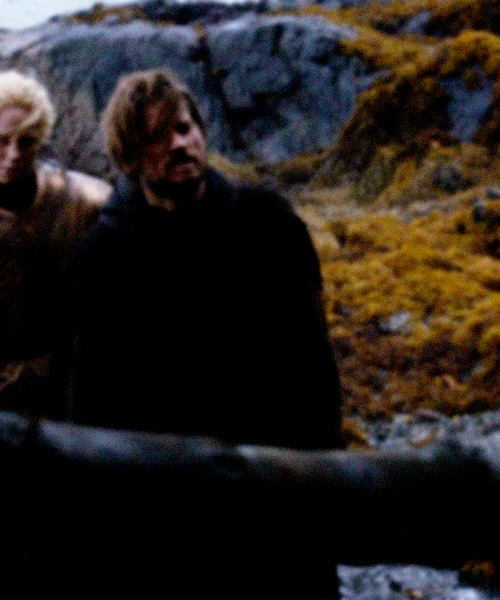 "Jaime. The name was a knife, twisting in her belly. ""Lady Catelyn, I…you do not understand, Jaime…he saved me from being raped when the bloody Mummers took us, and later he came back for me, he leapt into the bear pit empty-handed…I swear to you, he is not the man he was. He sent me after Sansa to keep her safe, he could not have had a part in the Red Wedding."" Lady Catelyn's fingers dug deep into her throat, and the words came rattling out, choked and broken, a stream as cold as ice. The northman said, ""She says that you must choose. Take the sword and slay the Kingslayer, or be hanged for a betrayer. The sword or the noose, she says. Choose, she says. Choose."" […] She took a ragged breath and said, ""I will not make that choice.""  All I want is for Jaime and Brienne to live happily ever after. That's going to happen immediately after this excerpt, right? RIGHT? (I'm probably going to need some fanfic to soothe these heartaches.)"