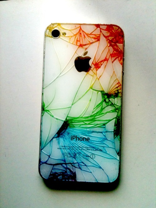 slutsneverdie:  i did this to my iphone it looks sick