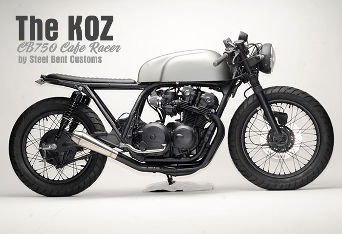 """The Koz"" CB750 by Steel Bent Customs - more photos/details at www.ironandair.com"