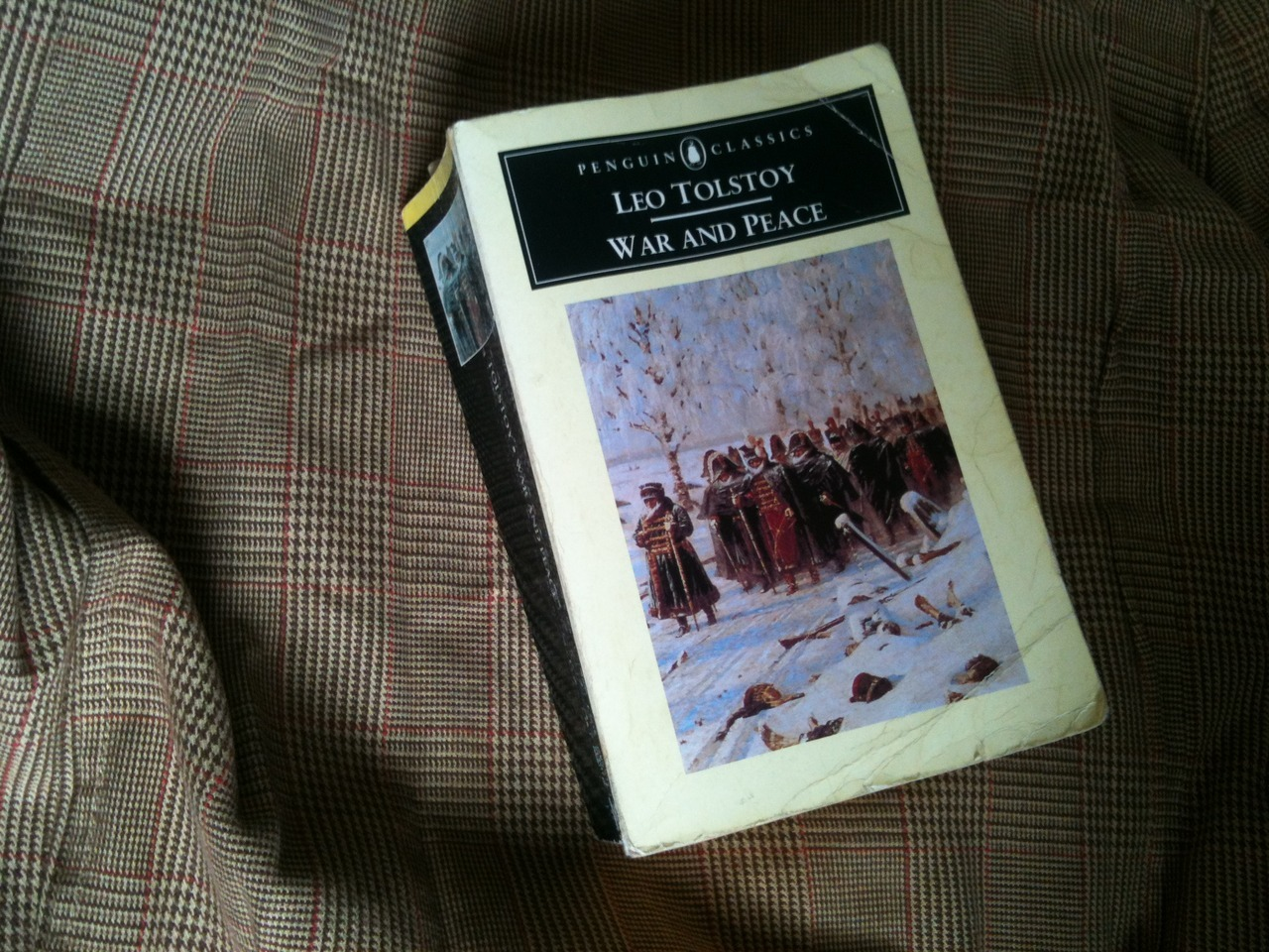 Currently reading - 'War and Peace' by Tolstoy. It seemed like a good choice for autumn.