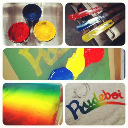 Ruuuuuudeboooooi 🌈 #merchasylum #uk #screenprint #screenprinting #cardiff #london #print #printing #printlife  (Taken with Instagram at Merch Asylum - Screenprinting Studio)
