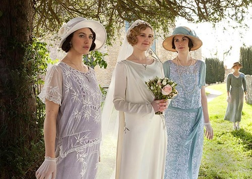 in-the-middle-of-a-daydream:  The Crawley Sisters in Downton Abbey - Season 3