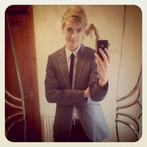 Suited and booted. Wish me luck :3 (Taken with Instagram)