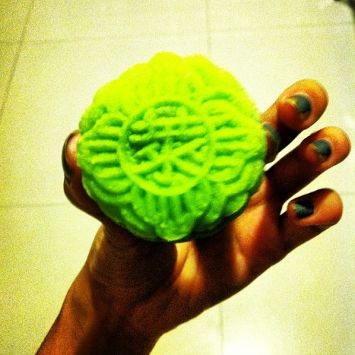 Hi there dark chocolate crunchy pearl mooncake  (Taken with Instagram)