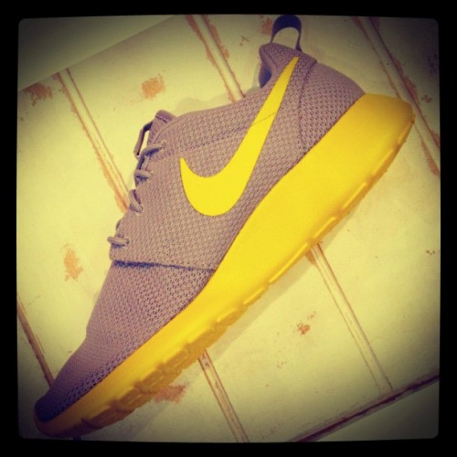 #Nike #Roshe #Run in Grey/Yellow available at @complexstore #love #shoes (Taken with Instagram)