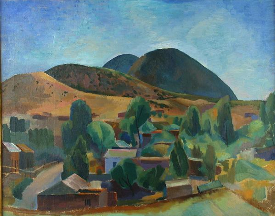 Willard Nash - Santa Fe Oil on canvas, 24 1/4 x 30 1/4 inches