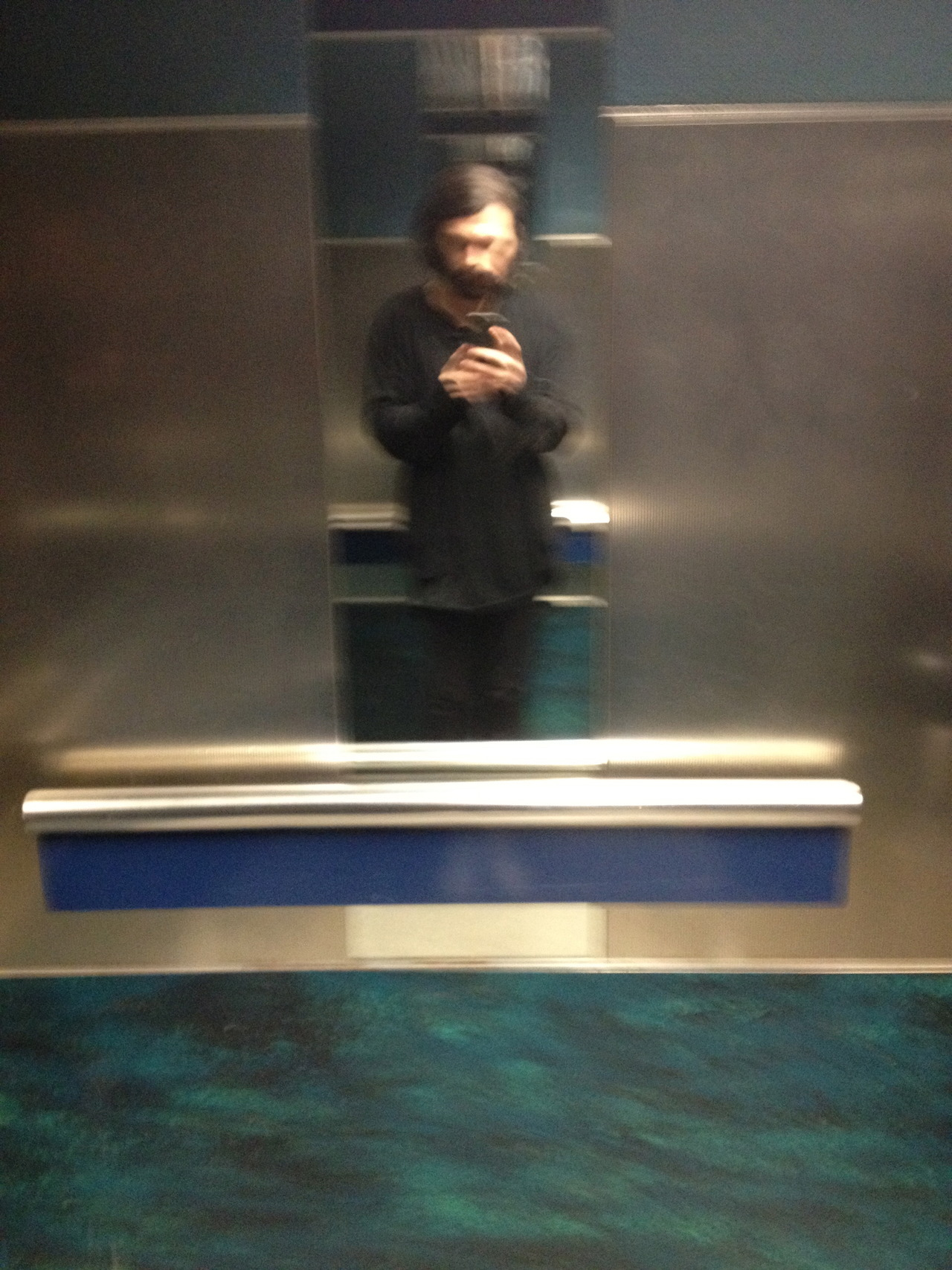 Back in the blurry blue lift. Zambesi over-shirt and under-thing.