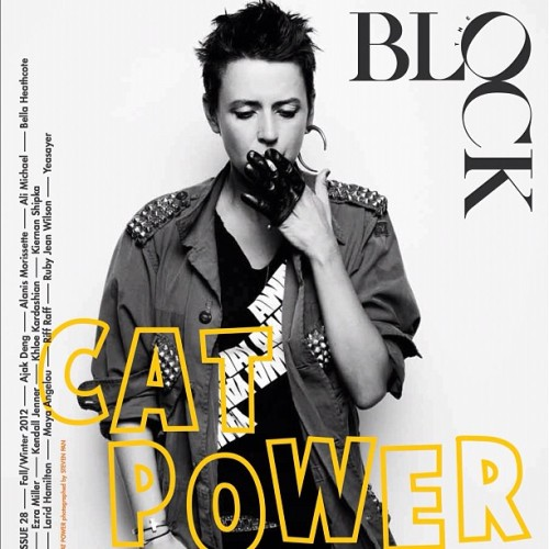 "odetochan-catpower:  Cat Power in ""The Block Magazine"""
