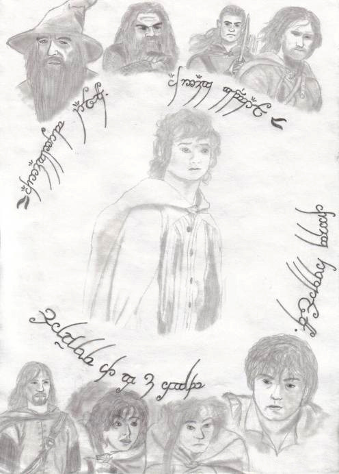 look, I found a picture I drew when I was 14 (8 years ago whaaat) I'm totally digging Pippin's face in this  he's like MERRY  MERRY WHAT'S GOING ON  MERRY WHAT ARE WE DOING  MEN MIG!!!!!!11111111  pippin pls