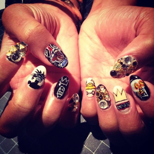 naominailsnyc:  Jean Michel Basquiat #nail #nailart (Taken with Instagram)