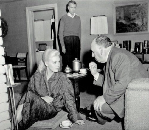 "On the set of ""Vertigo"",1958."