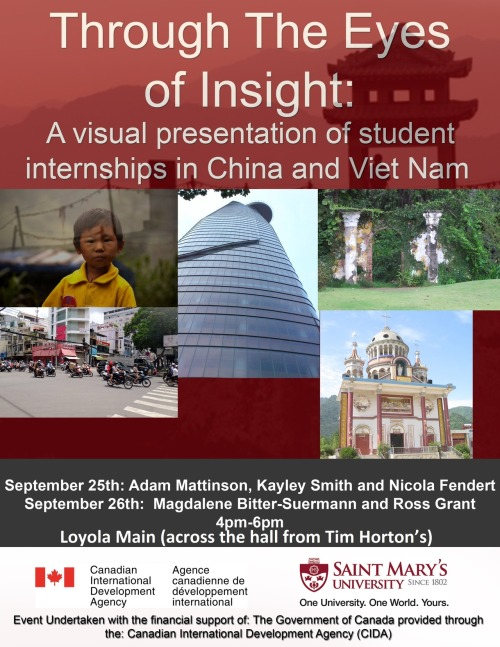 If you're interested in international travel, check out today's session in Loyola Main at 4 p.m.