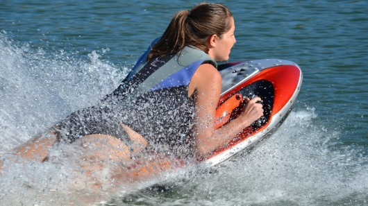"""Kymera powered body board gets electrified, approaches commercial release"" It's been over 20 months since we last looked at the Kymera jet-powered body board and it's great to see that its creator, Jason Woods, has stuck with his dream of developing a compact and lightweight personal watercraft. In the time since our last story, Woods has continued to plug away in his garage refining the Kymera, which now sports a new hourglass shape, has made the switch from gasoline to electric power, and has attracted the interest of search and rescue (SAR) teams. Most importantly, the Kymera is nearing commercial availability, with Woods aiming for a release in 2013. ____________________  Future waterborne drone."