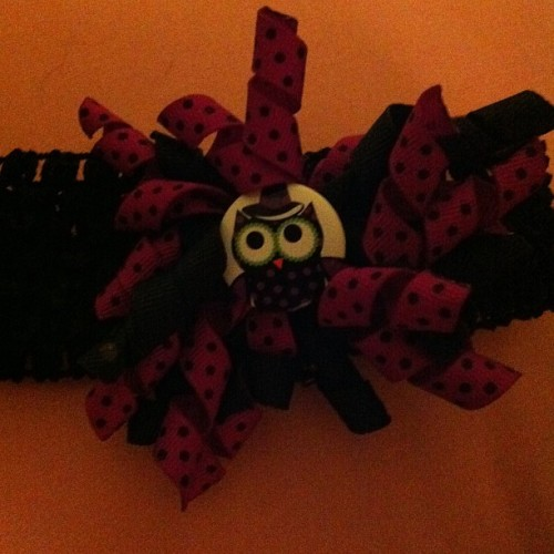 An owl head band!!!!  (Taken with Instagram)
