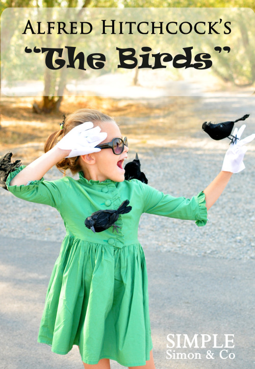 "halloweencrafts: DIY No Sew ""The Birds"" Halloween Costume Tutorial from The Train To Crazy here. This would be an easy costume for kids or adults and uses Dollar Store crows."