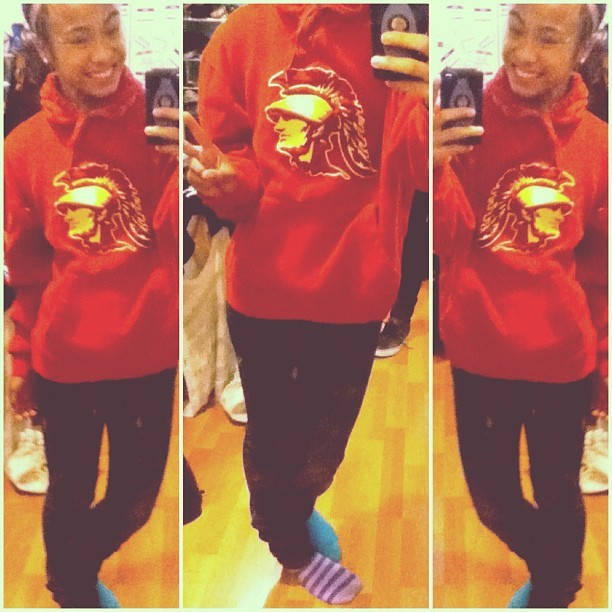 It's a sweater typa day. #dealwiddit #trojans #mixmatch (Taken with Instagram)