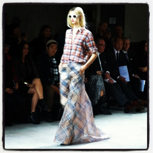 Gorgeous Dries Van Noten Spring 2013…plaids, sheers,  ice cream colors, and a dash of floral on top.