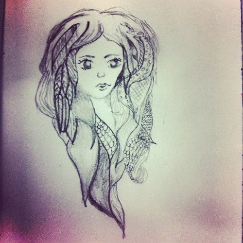 #draw #doodle #girl  (Taken with Instagram)