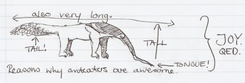 lizowl:  Anteater Science     View Post shared via WordPress.com
