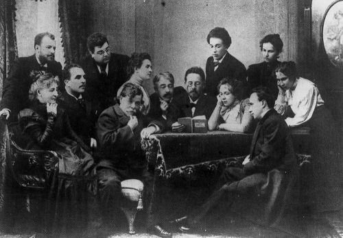 idlesuperstar:  Chekhov reading The Seagull to the company of the Moscow Arts Theatre