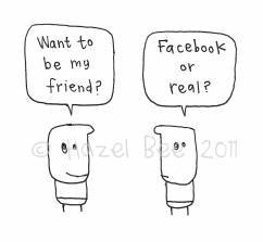 """Do you want to be my friend? Facebook or real?"" Hazel Bee Cards"