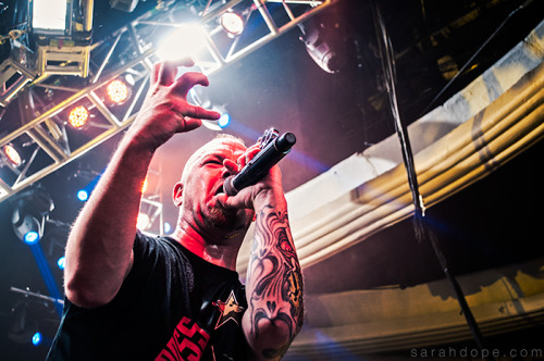 Ivan Moody of Five Finger Death Punch on the Trespass America Festival. Taken August 28, 2012 in Hollywood, CA.