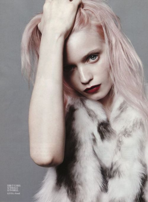 Abbey Lee Kershaw by Daniel Jackson for Vogue China, July 2012
