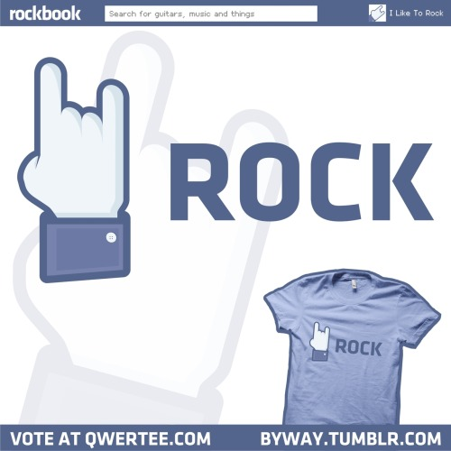 My Facebook themed T-shirt design, 'I Like To Rock', is now up for voting over at Qwertee.com, so if you'd like to see it get printed then all you have to do is click on the image above to get to the design page and then vote!