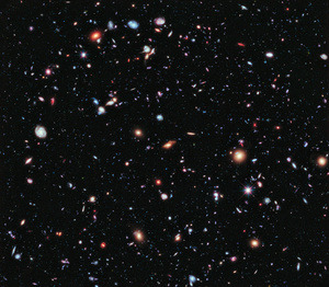 This spectacular image is the deepest view of the Universe ever captured. The farthest galaxy in this image? 13 BILLION LIGHT YEARS AWAY. Amazing. Thanks Hubble!    (via io9)