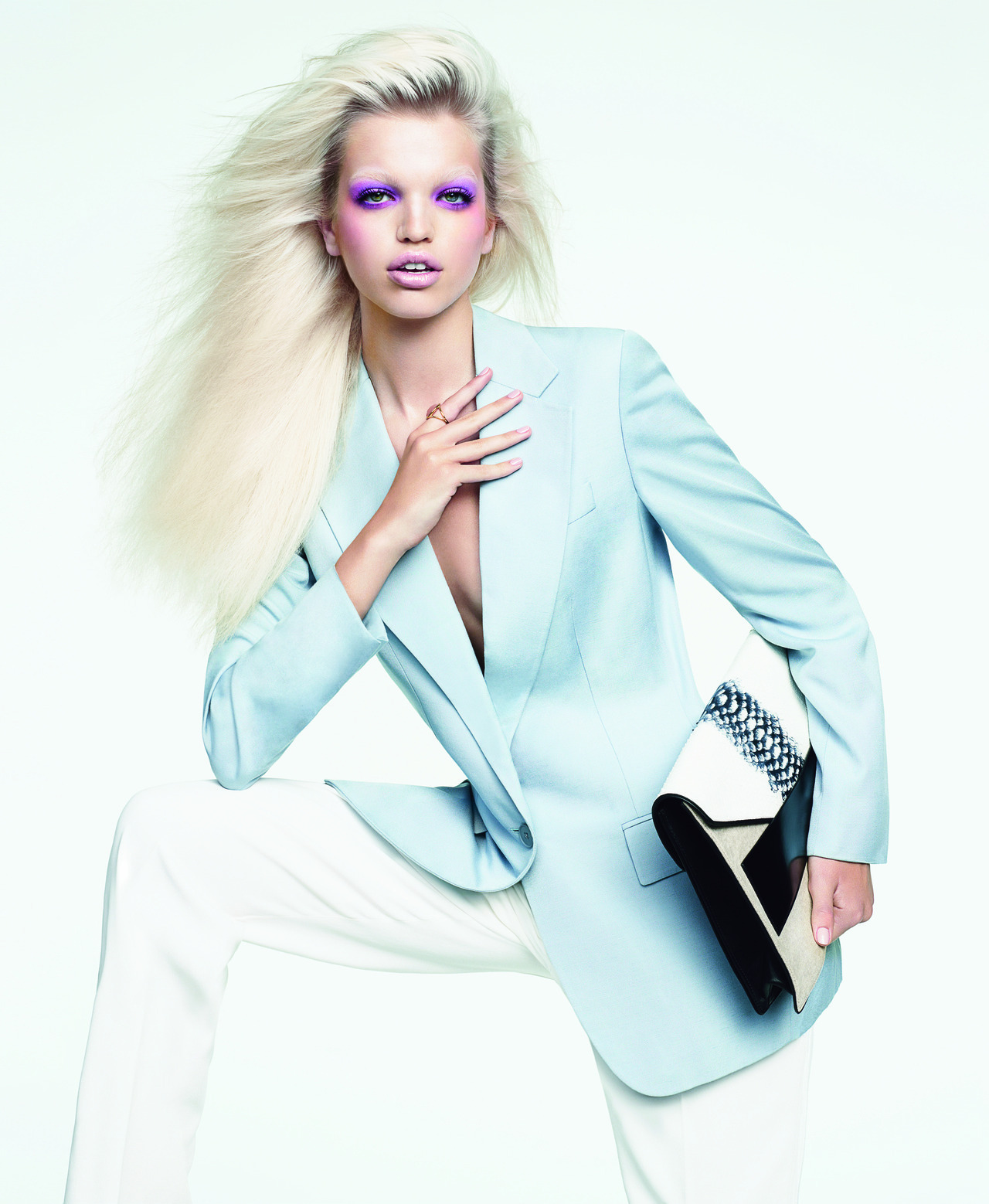 harpersbazaar:  The New Power Color: Powder Blue Nathaniel Goldberg, October 2012