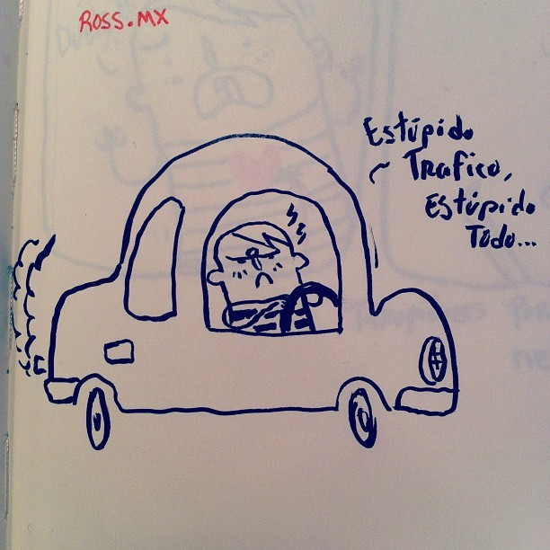 Estúpido  todo #stupid #art #car #cartoon #dude #ideas #instagood #illustration #sketch #sketchbook #fun #mty #mexico #mextagram #cool #cute #angry  (Taken with Instagram)