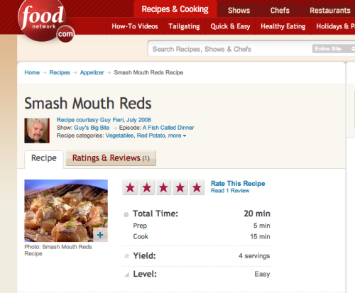 To celebrate the impending release of a new cookbook by Smash Mouth lead singer, tastemaker, and fashion icon (exclusively to Guy Fieri) Steve Harwell (forward written by Guy Fieri), I'm making Smash Mouth Reds, a potato side dish that kickstarted the global Smash Mouth-related foods craze. But, Gwynedd, the global Smash Mouth-related foods craze is not a thing! YET, you guys. It's not a thing YET.