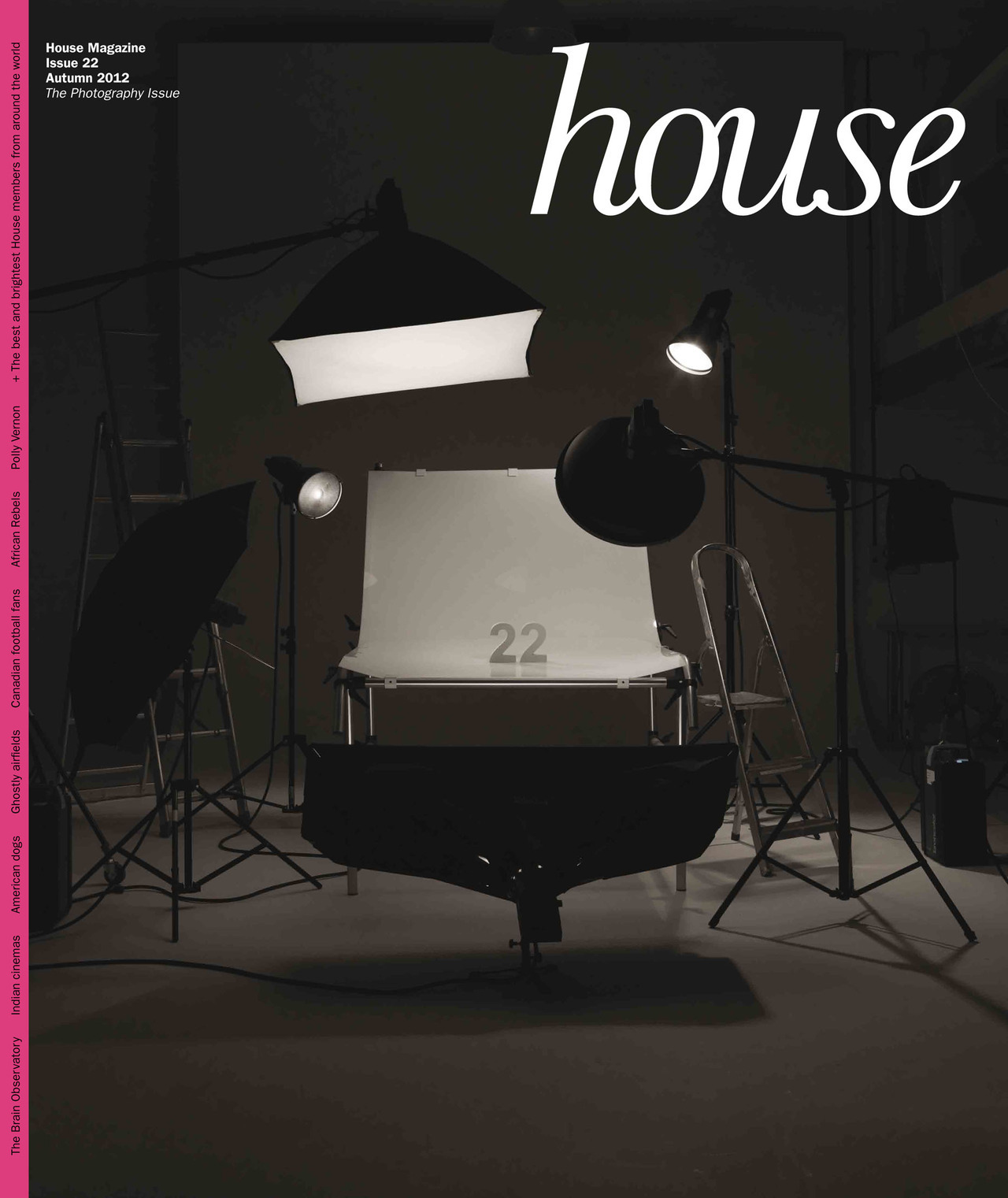 The latest House Magazine cover.  Creative Direction by Avec Artist Stephen Toner.
