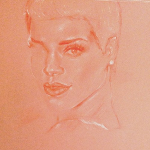 This Rihanna (@badgalriri) sketch isn't going as well as planned BUT MAYBE IT WILL GET BETTER