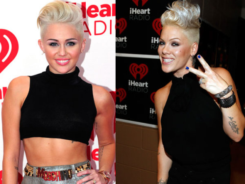 Is Miley morphing into Pink?