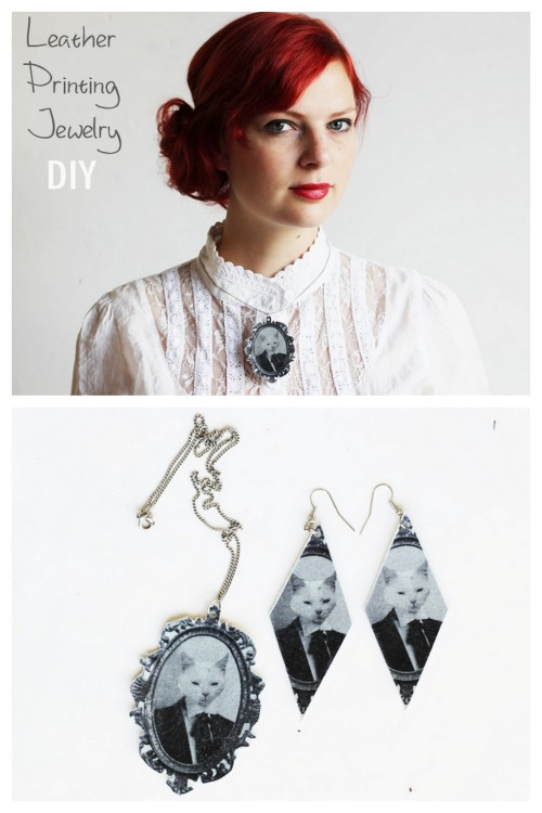 truebluemeandyou:  DIY Transferring Images to Leather Tutorial from Lana Red here. Rarely do I see tutorials that are totally new to me - but this is one of them. Lana uses iron-on tee shirt transfer paper to transform leather scraps into jewelry. If you read my blog I really like and use tee shirt transfer paper because I've had really good luck with it using it to design my own tee shirts, applying it to cheap canvas bags, etc…