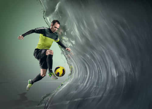 freshoffthepitch:  Nike All Conditions Control (ACC) technology allows the boot's surface to maintain the same level of friction, touch and control on the ball in wet and dry conditions.  The ACC technology is created by a special treatment during the development of the upper materials to deliver a consistent feel on the ball at all times. Wherever football is played, weather plays its part: In London alone, during the season an average of 125 days will experience some rainfall, making receiving and passing a ball tricky for even the best players.  Nike's All Conditions Control (ACC) ensures the surface of the boot upper delivers consistent friction between boot and ball in wet weather conditions allowing the player an assured touch similar to the feel of the ball in dry conditions.  The need for consistent touch and feel on the ball in wet weather is an insight shared by many footballers Nike's design teams talked to, including FC Barcelona's Andrés Iniesta.  Nike boots combine the latest design innovation and performance, with boots for each style of play. All Conditions Control (ACC) is now available across all Nike boots including Mercurial Vapor VIII, Tiempo Legend IV, CTR360 Maestri III and Total 90 Laser IV.  Love the new colors.